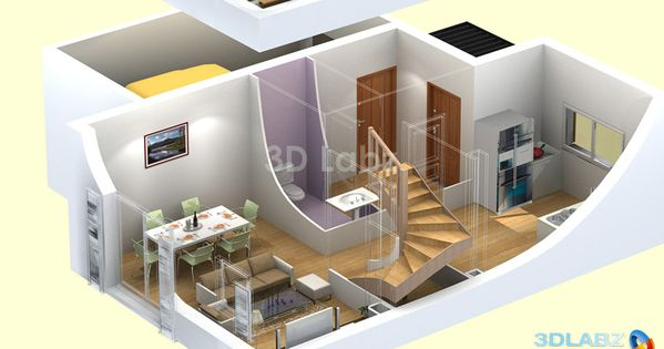 3D Floor Plan House Plans Pinterest 3d Floors And Floor Plans