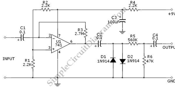 Fuzz Box Circuit Schematic Diagram Distortion Pedal Guitar Effects Guitar