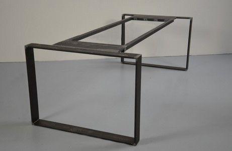 Gefunden 69no Stand Alone Tischgestell 10x1 5cm Stahlband Tisch Stahltisch Diy Esstisch