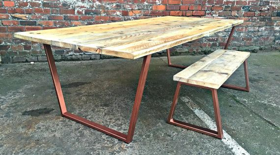 Reclaimed industrial chic 8 10 seater solid wood and for 10 seater solid oak dining table
