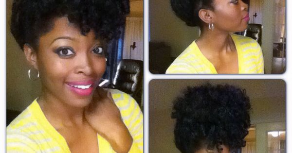 Updo Natural Hair Protective Style Crochet Braids