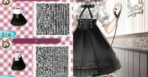 acnl qr code black and white dress animal crossing new leaf pinterest qr codes animal. Black Bedroom Furniture Sets. Home Design Ideas
