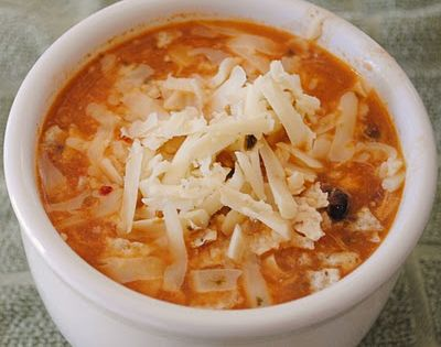Chicken Enchilada Crock Pot Soup. Perfect for cold weather.