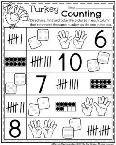 Fall Kindergarten Worksheets For November Planning Playtime Fall Kindergarten Kindergarten Worksheets Kindergarten Math Games