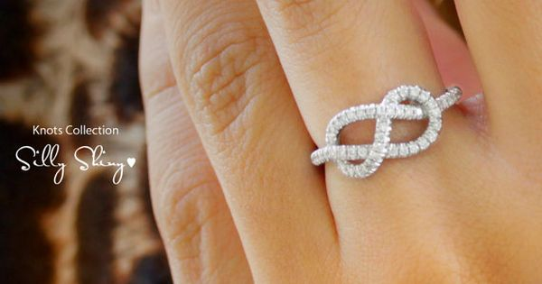Infinity Knot Diamond Ring