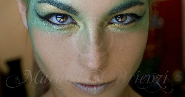 Siren/Mermaid greens and blue scales fanning out from eyes. | See more about Makeup, Mermaids and Mermaid Makeup.