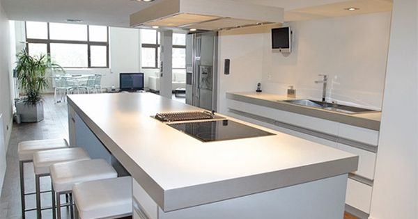 cuisine design ilot central recherche google hotte cuisine lot pinterest ilot central. Black Bedroom Furniture Sets. Home Design Ideas