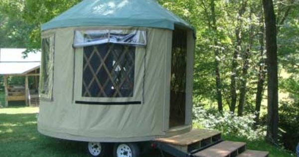Portable Van Awning : Portable camping yurt on wheels add a room tents