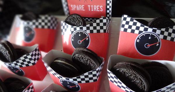 Race Car party treat ideas @Kim Dawson Garcia