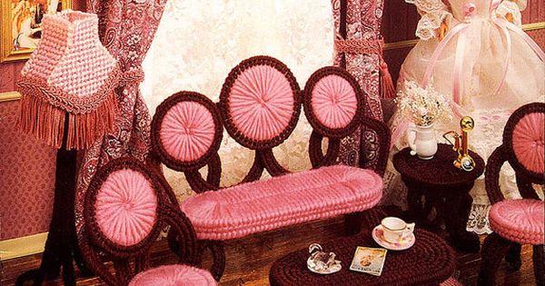 Plastic canvas furniture fashion doll pinterest victorian parlor