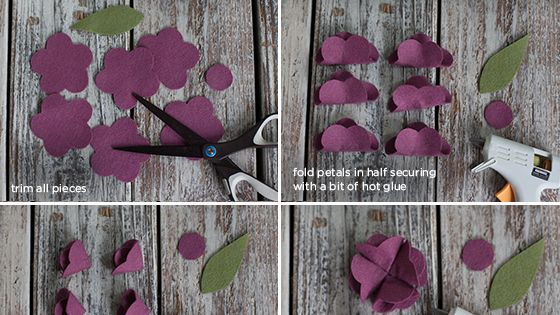 Felt Flower Tutorial Use as table decor, a gift topper or even