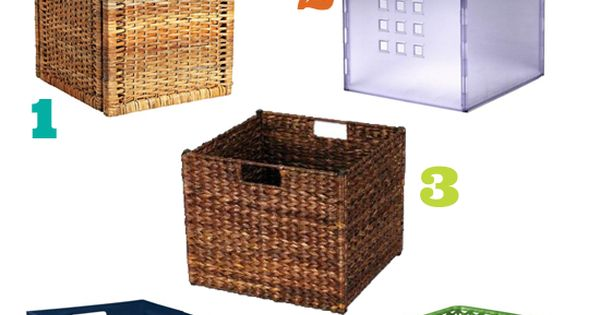 Genius Idea Ikea Expedit Shelves With Baskets For Storage: Baskets For IKEA Expedit
