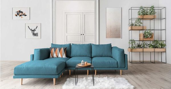 Skandinavisches System Sofa In Frischen Trendfarben 3 Sitzer Sofa Set Clooods Velare Feydom Modulsofas In 2020 Sitzgruppe Modul Sofa Modulares Sofa