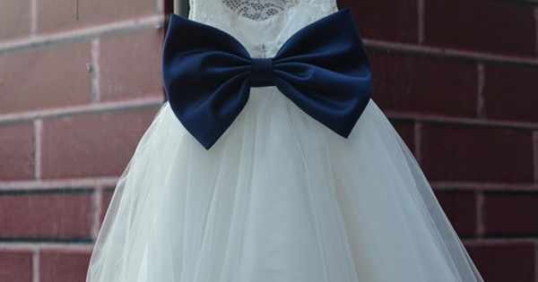 Except the bow is the accent colour for the wedding.....This flower girl