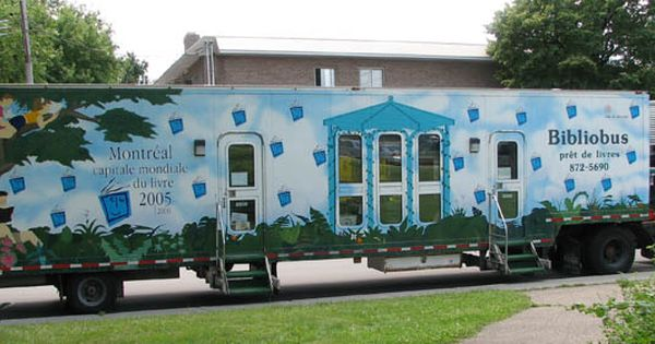 Bibliobus De Montreal Mobile Library Bookmobile Library