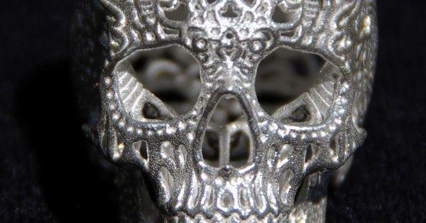Skull Sculpture Crania Anatomica Filigre sterling silver by shhark, $290.00