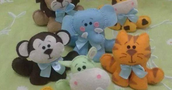 Cute Felt Animals Pattern Embroidery Sewing Etc