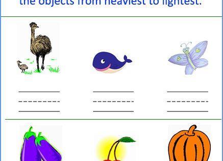 Free Kindergarten Measurement Worksheets : ... things kindergarten weight measurement worksheets ...