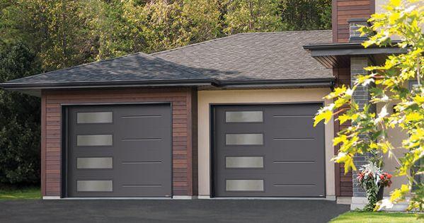 Standard Vog 9 X 7 Charcoal Window Layout Left Side Harmony Modern Garage Modern Garage Doors Garage Doors