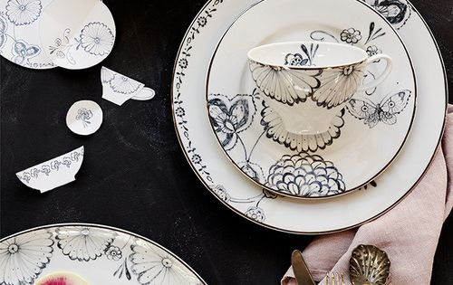 Behind the designs tabletop favorites am i am and windsor for Calligrapher canape plate anthropologie
