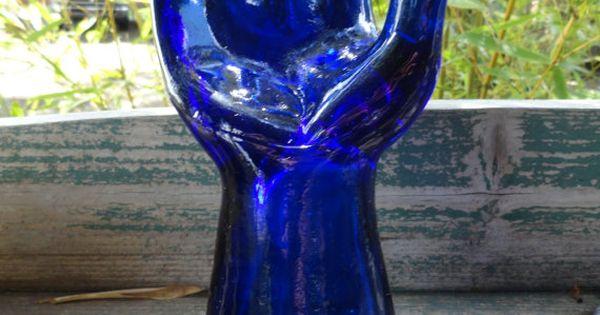 Cobalt Blue Glass Mannequin Hand