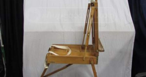 An Aaron Brothers easel. This travel style plein air art easel features folding wooden construction that goes from a storage box for supplies to a three legged easel with storage drawer. from sdjhyqqw.ml