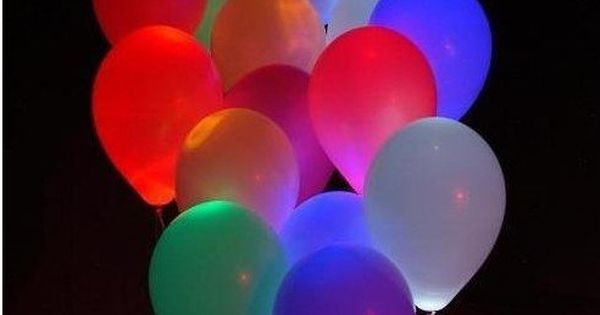 Put a Glow stick in a balloon before you blow it up.