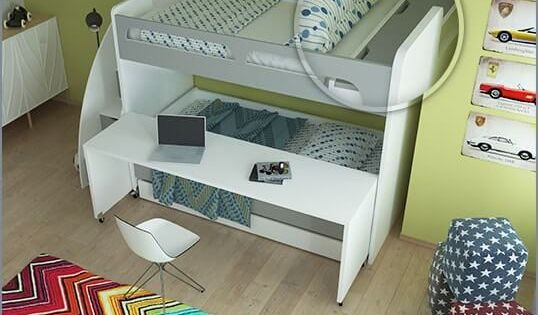 Bel Mondo Twin Over Twin Xl Bunk Bed With Sofa Desk And Trundle With Images Bunk Beds With Stairs Cool Bunk Beds Bunk Beds