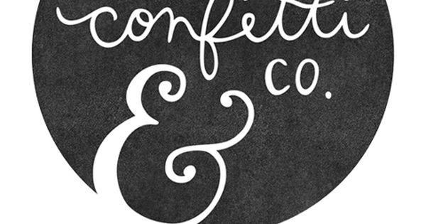 confetti & co logo design by @A S so - cute logo