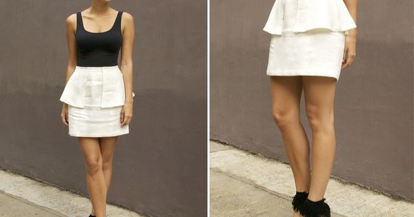 DIY: peplum skirt diy tutorial crafty clothing