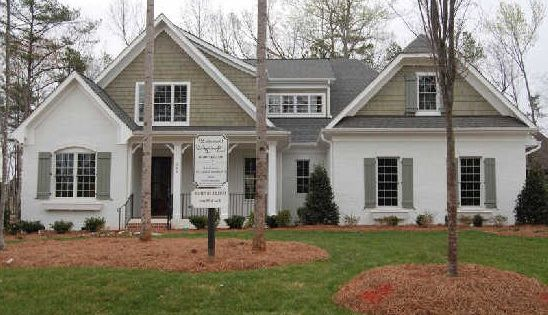 Stucco and wood houses painted 4 colors white stucco house exterior paint schemes with - Paint exterior wood set ...