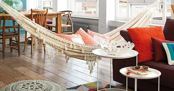 living room hammock colorful and bright apartment with a hammock in the living 10089
