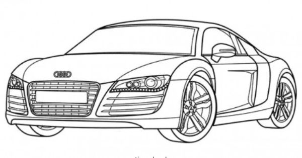Racing Car Audi Has A Nice Body Shape Coloring Page Auto