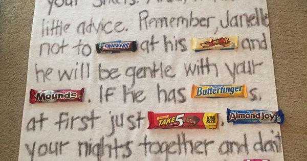 Bridal Shower gag gift, Candy bar poem, lingerie shower ...