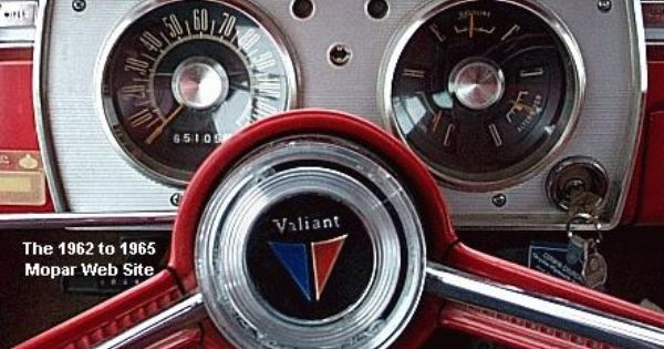 1965 Plymouth Barracuda Dash Mopar Plymouth Valiant Plymouth Barracuda