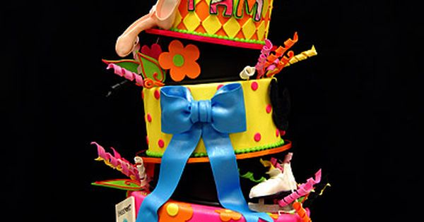 five-tiered Dr. Seuss Topsy Turvy Cake