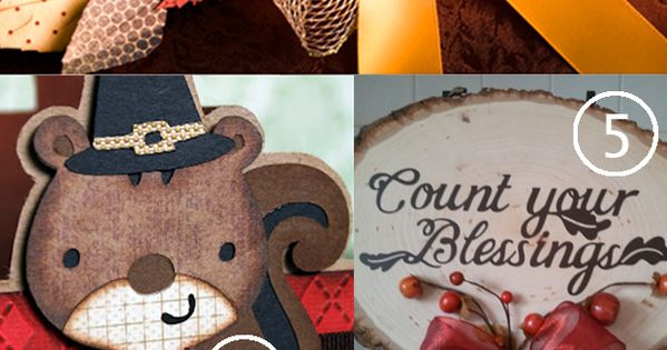 Top 8 Cricut Thanksgiving Projects & Cricut Mini Giveaway via @Heidi |