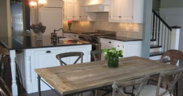 I Love This Kitchen Featuring Restoration Hardware 39 S Very Own Flat Iron Dining Table And
