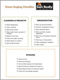 Home Staging Checklist Printables Realestate Home