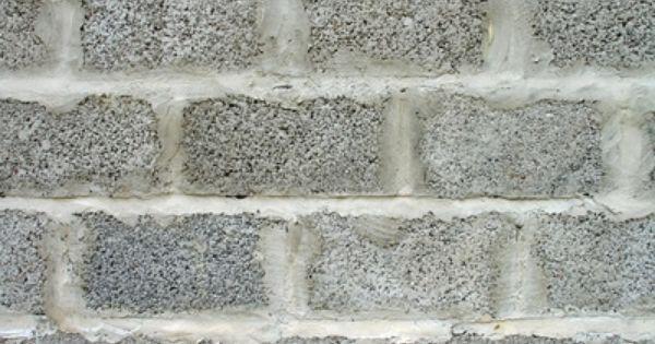 How To Fix A Pinhole Water Leak In A Cinder Block Wall Cinder Block Walls Basement Walls Cinder Block