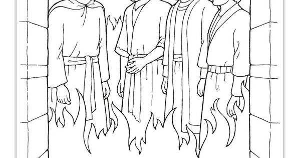 Daniel and the fiery furnace coloring page lds coloring for Daniel and the fiery furnace coloring page