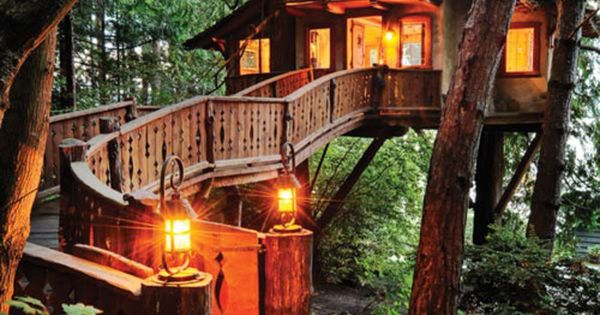 treehouse swiss chalet | This place puts the 'house' in tree house