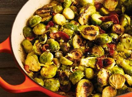 Recipes | Caramelized Brussels Sprouts with Bacon and Thyme | Sur La ...