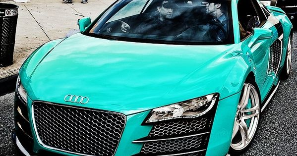 Audi R8 in Tiffany Blue cars