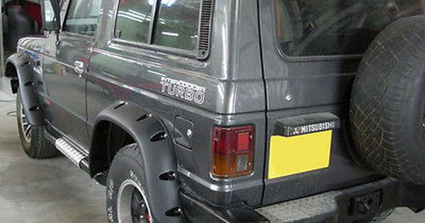 Wide Fender Flares Wheel Arches For Mitsubishi Pajero Montero Mk1 2 Door Mitsubishi Pajero Mitsubishi Jeep Bumpers