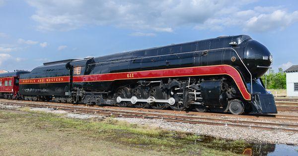 railpictures net photo nw 611 norfolk western steam 4 8 4 at spencer north carolina by matt donnelly steam norfolk southern train photography pinterest