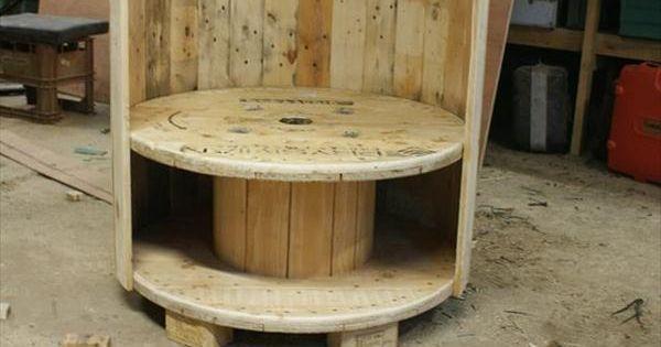 id es d co bobine de r cup touret fauteuils et diy. Black Bedroom Furniture Sets. Home Design Ideas