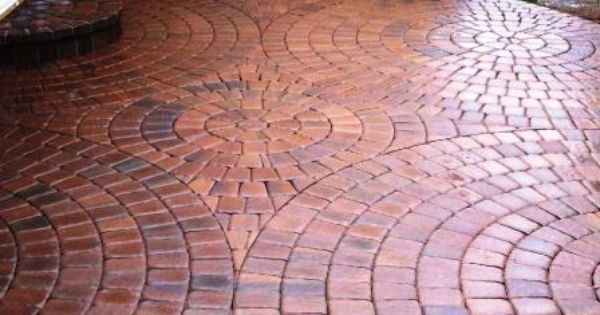 By Combining Square And Keystone Shaped Pavers Almost Any