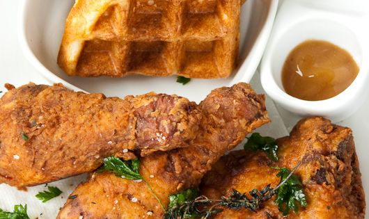 Fried chicken, Ad hoc and Chicken and waffles on Pinterest