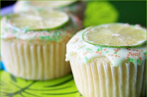 Margarita Cupcakes - Hostess With the Mostess - I made these as